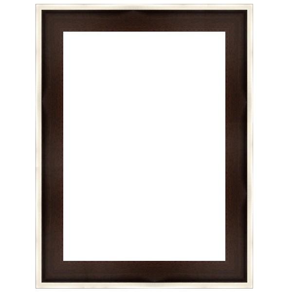Cadre Caisse-Américaine marron wengué avec filet supérieur argenté