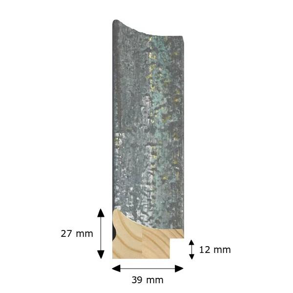 Cadre NORWAY bleu effet rouille métal rouillé