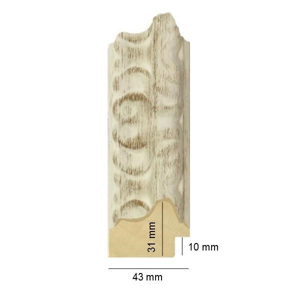 Cadre Balia M blanc décapé