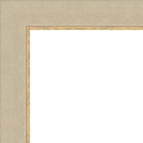 Cadre Marie-Louise imitation toile avec filet doré
