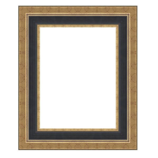 Cadre Louvre noir et doré