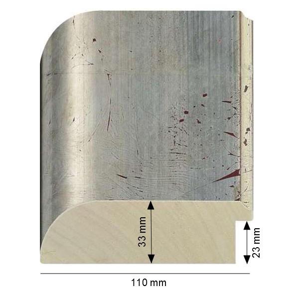 Cadre Arrondi Dorure à la feuille de cuivre argentée