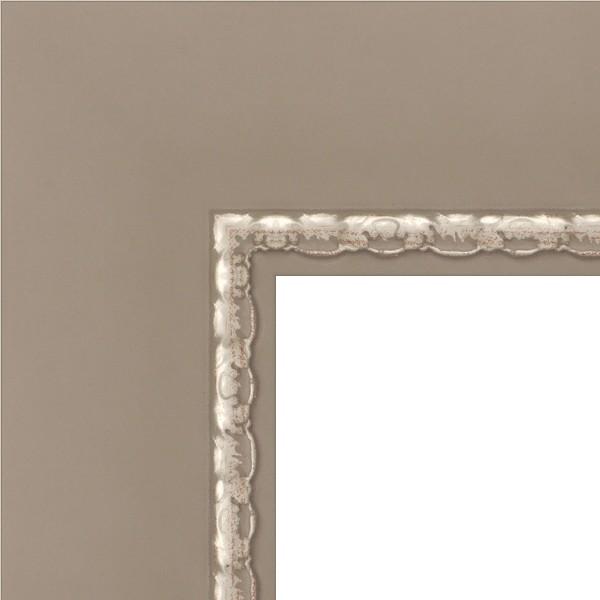 Cadre grand trianon gris et filet argent