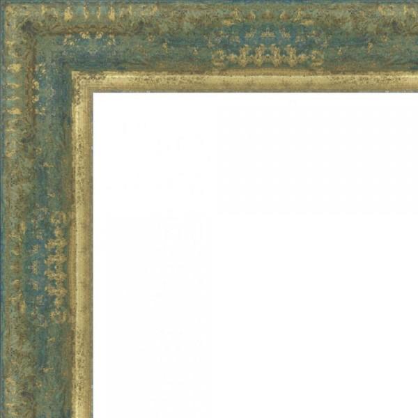 Cadre NATUREO bleu patine dorée