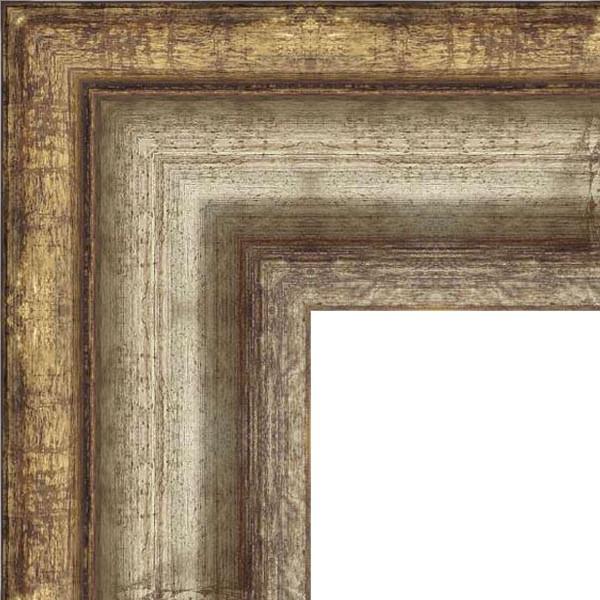 Cadre Manoir argenté ancien et doré ancien
