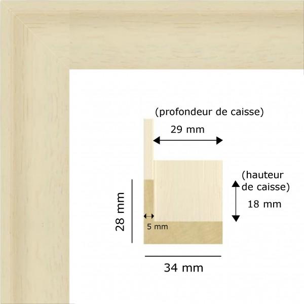 Cadre petite caisse am ricaine blanche cadre sur mesure - Cadre caisse americaine ...