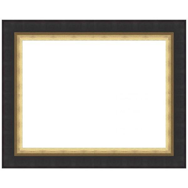 Cadre Vide cadre noir et doré sur mesure. cadre vide tableau toile à bas prix.