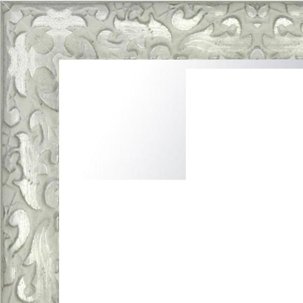 Cadre Feuille de chêne blanc et argenté