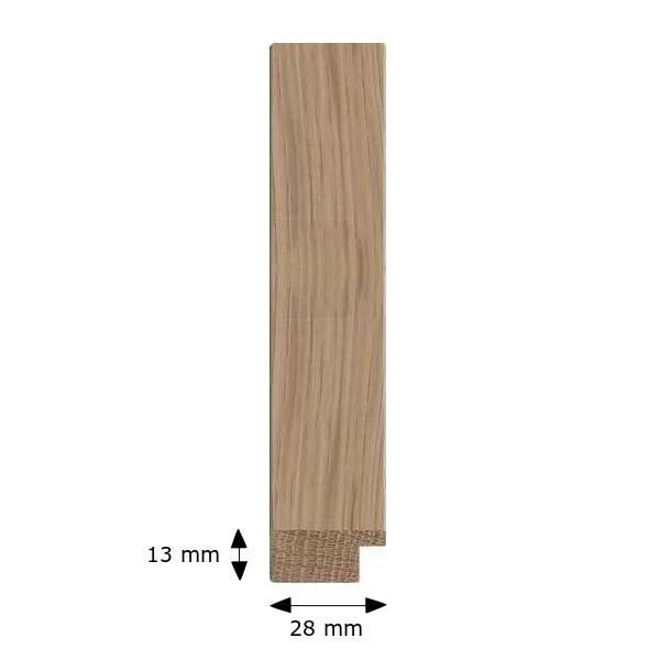 Cadre CHENE PLAT 30 chêne clair bois massif naturel