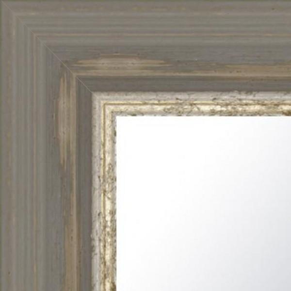 Cadre Chambord gris poussière patiné