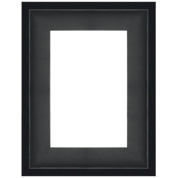 cadre grande caisse am ricaine noir mat sur mesure pour peinture toile. Black Bedroom Furniture Sets. Home Design Ideas