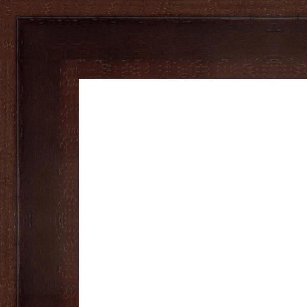 Cadre Caisse-Américaine marron wengué
