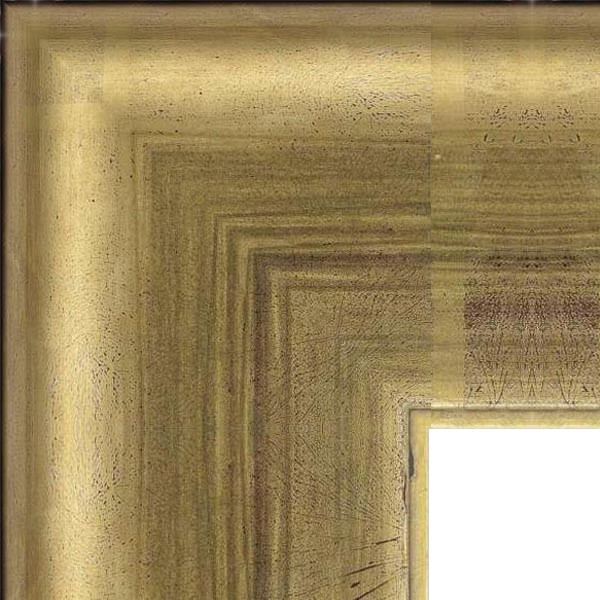 Cadre Arrondi dorure à la feuille de cuivre dorée