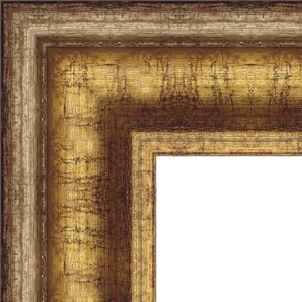 Cadre Manoir dorée ancien et argenté ancien