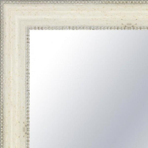 Cadre Louis-Philippe blanc patiné
