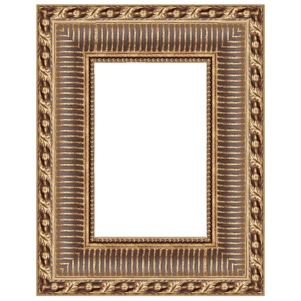 Cadre Empire canaux 112 dorure à la feuille de cuivre dorée