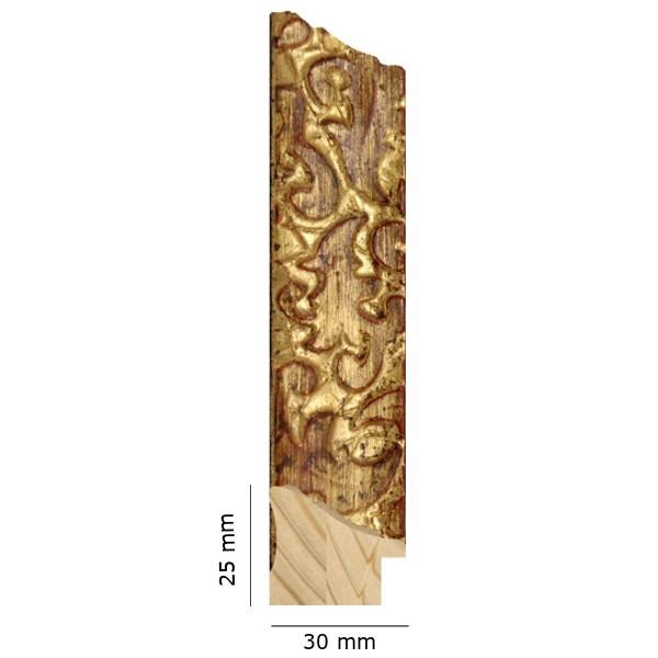 Cadre Feuille de chêne doré