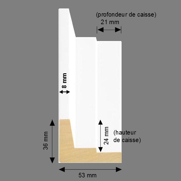 Cadre Caisse-Américaine escalier blanc mat