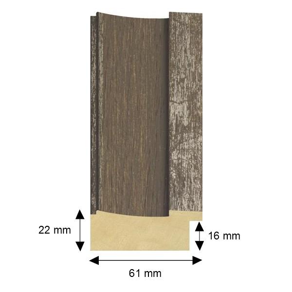 Cadre woody patiné argenté