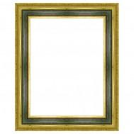 Cadre Paysage or et vert