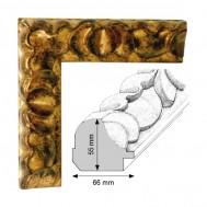 Cadre Artisanat Helios Décoration doré patiné à la feuille