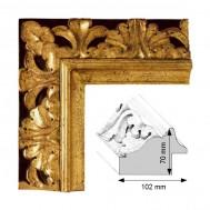 Cadre Artisanat Grand Feodal Décoration doré patiné à la feuille