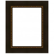 Cadre grand trianon noir et filet or