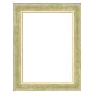 Cadre DAUPHINE patine verte sur fond doré