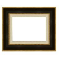 Cadre LEGEND 78 avec Marie-Louise 25 noir bords extérieurs dorés